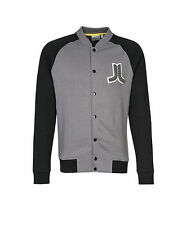 NEW WESC MENS GUYS VARSITY RAGLAN JACKET FLEECE SWEATSHIRT BASEBALL COAT TOP L