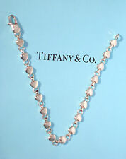 Tiffany & Co Sterling Silver Heart Link Continuous Heart 7.5 Inch Bracelet