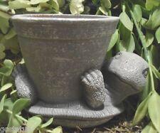 Latex/ w plastic backup turtle planter mold mould