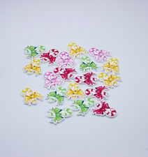 30PCS Christmas present candy Wooden Buttons scrapbooking Sewing Mix-color