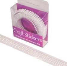 3 Row Self Adhesive Gemstone Border Trim Embellishments Pearl / Clear Craft Gems