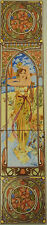 Daybreak Tile Panel Mucha Lady Decorative Fireplace Tile Panel Hand Made in UK