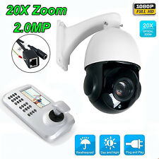 20x Optical Zoom HD 1080P 2MP CCTV PTZ IP Camera Outdoor + Keyboard Controller