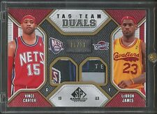 2009-10 Vince Carter LeBron James SP Game Used Tag Team Duals PATCH 3/10
