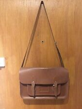Large Tan Classic Cambridge Satchel 14""