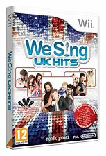 "Nintendo Karaoke Wii Game We Sing ""UK Hits"" Adele Amy Winehouse Queen etc New"