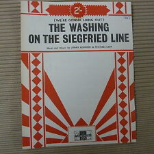 song sheet THE WASHING ON THE SIEGFRIED LINE Jimmy Kennedy Michael Carr