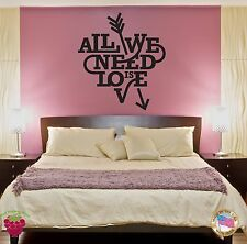 Wall Sticker Quote Words Inspire Message All We Need Is Love z1421