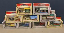 Lledo Diecast Horse Drawn Wagns Buses Trams Lot Collection of 9 Diff 1980s