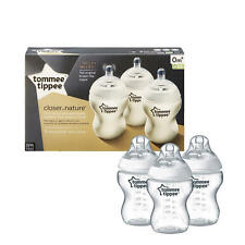 NIB Tommee Tippee Closer to Nature Bottles Set of 3 (9 Oz) Slow Flow 0m+