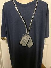 New Kani Jeans Big and Tall Logo T Shirt Navy  3XL 3X XXXL Dog Tags