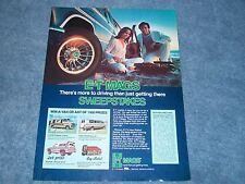 """1977 E-T Mags Wheels Vintage Contest Ad """"There's More to Driving..."""" Mag"""