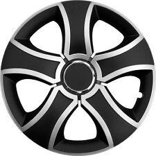 """4 x Radkappen BIS 14"""" Zoll Silver & Black Radzierblenden VW,SKODA,SEAT,CITROEN"""