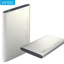 VINSIC 12000mAh Power Pank Backup Portable Battery Charger for iPhone Cell Phone