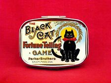 BLACK CAT FORTUNE TELLING GAME METAL PILL MINT BOX CASE