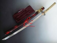 Hand forged dragon tsuba japanese katana sword full tang sharpened edge