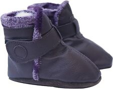 carozoo booties dark brown 12-18m C2 soft sole leather baby shoes