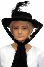 New Victorian/Mary Poppins/Period Themed Costume Fancy Dress Hat With Scarf