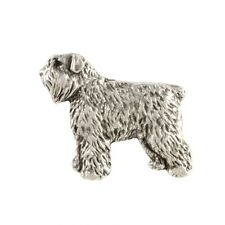 Bouvier des Flandres(body), silver covered pin, high qauality Art Dog Ca