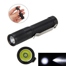 Portable MINI 300LM CREE R5 LED Pocket Flashlight Torch Clip Hunting AAA/10440