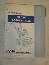 ORIGINAL MASSEY FERGUSON MF 254 ROTARY TILLER PARTS BOOK MANUAL