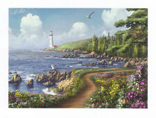 Alan Giana -  Destiny Point Poster Kunstdruck Bild Leuchtturm Meer 60 x 80 cm