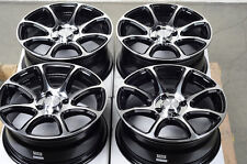 15 4x100 Black Rims Integra Mini Cooper Aerio Corolla Mirage Toyota Echo Wheels