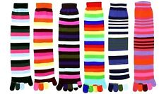 6 Pairs Assorted Stripes Winter Warm Toe Socks Size 9-11 Credos FW Special