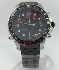 TX Flyback Chronograph Black Watch Dual Time & Compass T3B921 NEW! $500+ Retail
