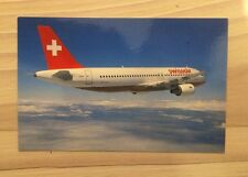 Swissair Swiss Airlines Airbus A 320 A320 Postcard Postkarte Top!