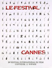 CANNES FILM FESTIVAL 1986 - ORIGINAL FRENCH POSTER 23 x 33 in