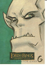 LORD OF THE RINGS MASTERPIECES SKETCH CARD OF AN ORC BY GRANT GOULD