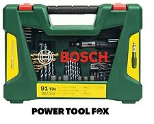 new Bosch Drill/Screwdriver Bit Accessory Set 91 Piece 2607017195 3165140726962