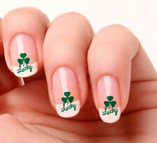 20 Nail Art Decals Transfers Stickers #177 - Lucky Shamrock Ireland