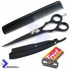 Barber Hair Cutting Scissor Hair Dressing Shears Salon Hair Shaving Razor Blades