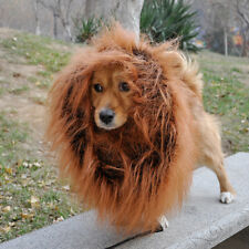 Lion Mane Wig with Ear Costume Cloth Hat Fancy Dress Pet Dog Halloween Christmas