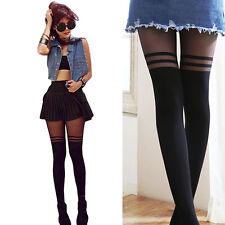 Streifen Muster über das Knie Strumpfhose Strümpfe Strumpfhosen Leggings Damen