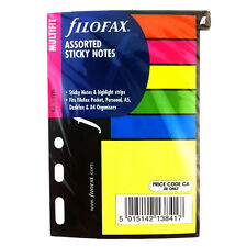 Filofax Book Multifit Small Assorted Sticky Notes Pocket / Mini Refill  210136