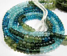 """Natural Multi Apatite Beads Rondelle Faceted, approx. 4-6mm Size Strand 14"""" long"""