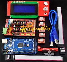 3D printer kit RAMPS 1.4 + Mega 2560 + 5pcs A4988 + LCD 2004 RepRap Prusa i3 HSG