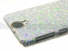 For HTC One E9+ (One E9 Plus) Phone Case Cover Silver Shiny Sparkling Sequin