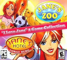 Jane's Hotel & Jane's Zoo PC Game Window 10 8 7 Vista XP Computer collection sim