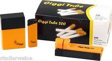 Ciggi Starterset 200 4 parties Marque 2.0/200 Manches/Boîte à cigarettes/Briquet