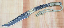 "COLT SIDEWINDER 9"" FIXED BLADE KNIFE SNAKESKIN PATTERN w/ KYDEX SHEATH CT643 NEW"