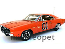 AUTOWORLD AMM964 DUKES OF HAZZARD GENERAL LEE 1969 69 DODGE CHARGER 1/18 ORANGE