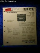 Sony Service Manual HCD A290 Component System (#1477)