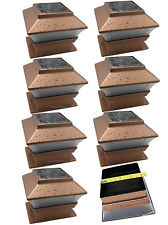 Solar Powered LED Copper Post Deck Cap Square Fence Light For 4x4 Wood Post