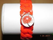 Assorted SILICONE snap button bracelets with NEW snap button tree charms 18-19MM