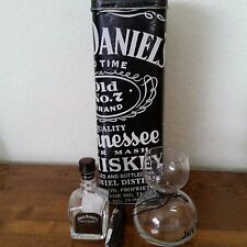 Jack Daniels Set - Collectible Tin, Chaser Jigger, and Mini SIngle Barrel Bottle