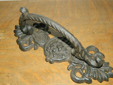 """9"""" Rustic Old Style Lion's Face Cast Iron Door Cupboard Garden Gate Handle Pull"""